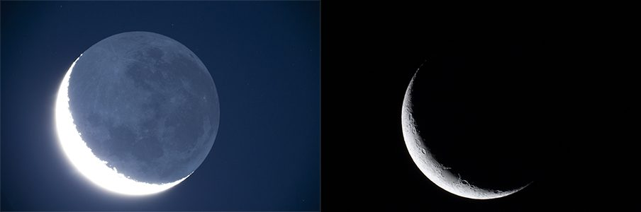 Moon and Saturn conjunction